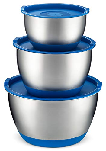 Bezrat Stainless Steel Mixing Bowls With Lids