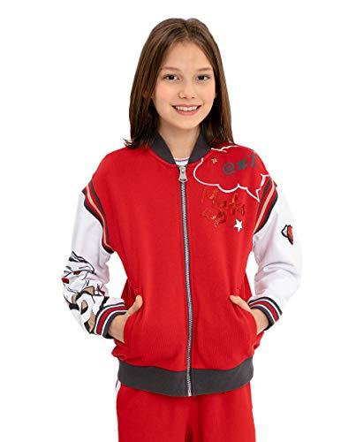GULLIVER Kinderen Sweatshirt Zomerjas Meisje Sweatjas Rood met Patches 134-164 cm