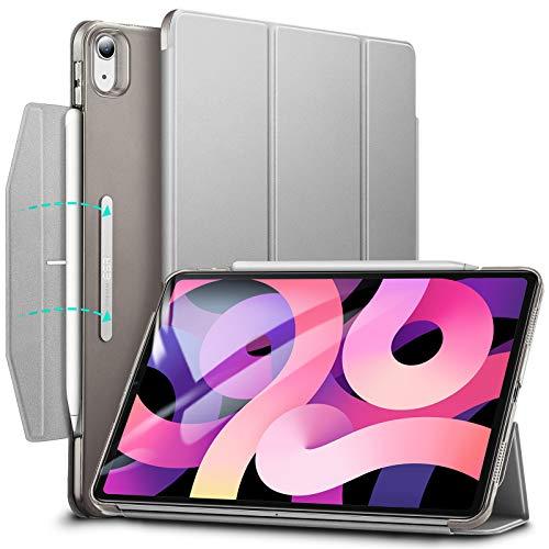 ESR Trifold Hülle kompatibel mit iPad Air 10.9 2020(4.Generation) [Trifold Smart Case] [Standhülle mit Schließe], Grau.