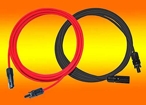 2 x 50,0m Solarkabel rot und schwarz 6mm² inkl. montierter MC4 Stecker von bau-tech Solarenergie