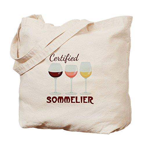 CafePress Sommelier-Tragetasche, zertifiziert, canvas, khaki, m