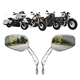 Motobiker 1 Pair Side Mirrors for Road King Sportster Street Electra Glide Dyna Softail Road Glide Motorcycle Rearview 1982-2020(Chrome)