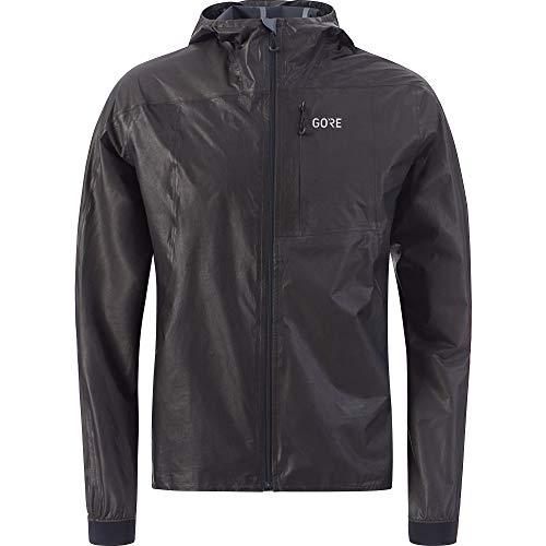 GORE Wear R7 Men's Hooded Running Jacket GORE-TEX SHAKEDRY, L, Black