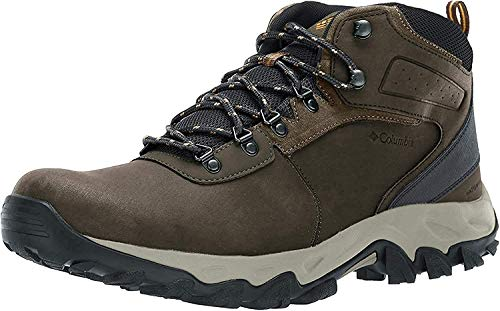 Columbia Men's Newton Ridge Plus II WP Wide Hiking Boot, Cordovan/Squash, 9 EE US