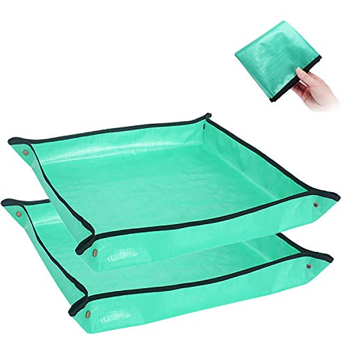 WANLING2PCS Plant Transplanting Repotting Mat Foldable Garden Work Cloth Waterproof Thicken Gardening Mat Change Soil Watering Pads for Indoor Bonsai Succulents Plant Care268''×268''in