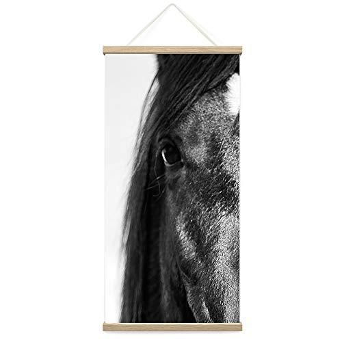 "bestdeal depot Hanging Poster Horse Canvas Prints Wall Art for Living Room, Bedroom - 18""x36"""
