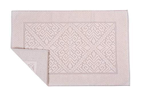 HomeLife Badkamertapijt, rechthoekig, van katoen – douchegordijn, van badstof, hoogwaardig, gemaakt in Italië, machinewasbaar, klassieke stijl, kleurrijk