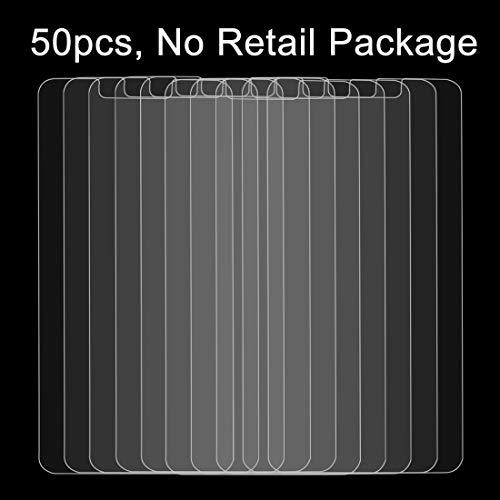 HUANGPUJIAN Fundas de teléfono 50 unids para Huawei P8 Lite 0.26mm 9H dureza superficial a prueba de explosiones pantalla no completa película de pantalla de vidrio templado, no paquete al por menor