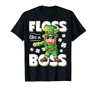 Leprechaun Floss Like A Boss St Patricks Day Boys Kids Gifts T-Shirt
