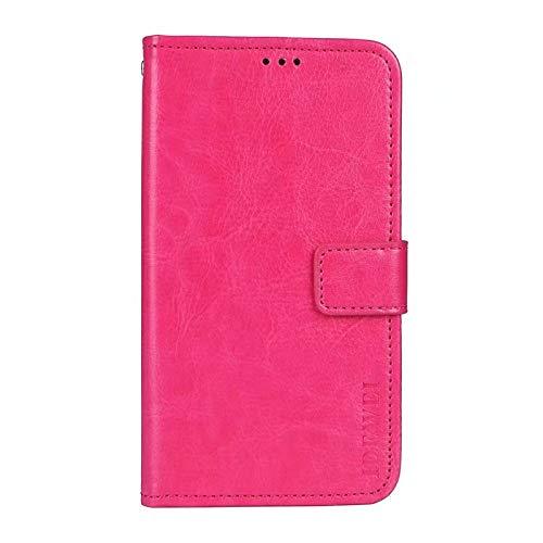 coque Funda para Moto G30, piel con tapa y ranura para tarjeta para Motorola Moto G30, color rosa