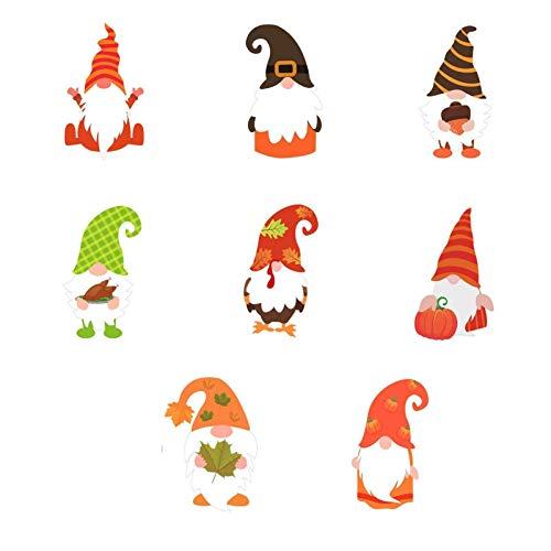 91 unidades de pegatinas de hojas de otoño, para decoración de fiestas, incluye muñeco de Rudolph, calabaza, hoja de arce, glande, maíz