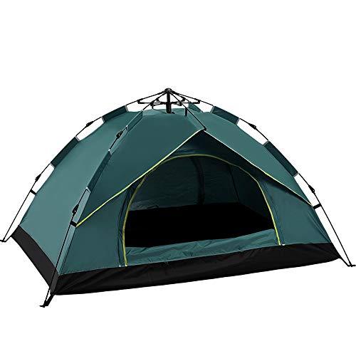 KANGLE-DERI Tende da Campeggio all'Aria Aperta, Completamente Tende Automatiche per 2-4 Persone, A Molla di Apertura Rapida Tende da Sole Antipioggia,Bronzo,Twopeople