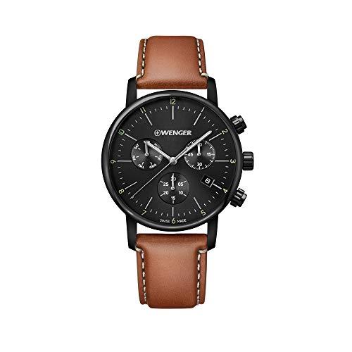 Wenger Hombre Urban Classic Chronograph - Reloj de Acero Inoxidable de Cuarzo analógico de fabricación Suiza 01.1743.115