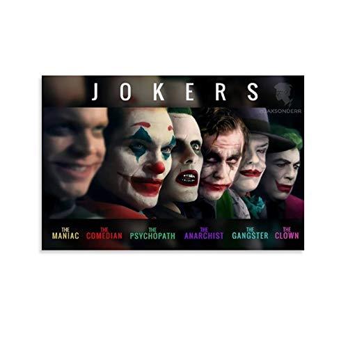 Artworks Pictures Wall Art The Jokers Movie Schauspieler-Kunstwerk für Zuhause, Wanddekoration, 40 x 60 cm