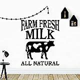 Hermosas vacas frescas pegatinas de pared desmontables cocina habitación vinilo mural calcomanías granja pegatinas creativas A4 57x67cm