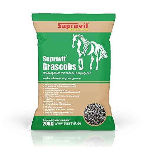 Supravit Grascobs 20 kg - Hochwertiges Pferdefutter Graspellets mit Hohem Energiegehalt
