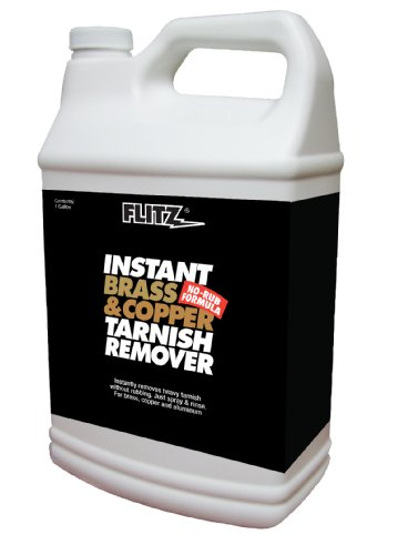 Flitz BC 01810 Brass and Copper Tarnish Remover, Powerful Organic Formula That Safely Removes Rust, Stains and Oxidation + Cleans Brick, Glass, Aluminum and More, Made in the USA, 1 Gallon Refill