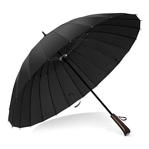 VONDAVO sturmsicherer groß Regenschirm - mit leichten 24 fiberglas Streben sturmfest Stockschirm, stabile windsicher für 1-2 Personen Dm. 100cm