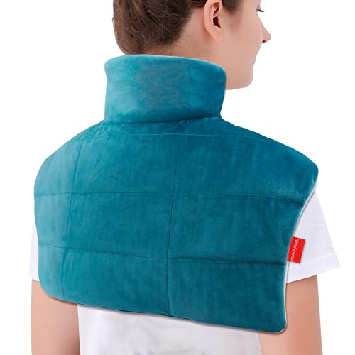 Weighted Heating Pad for Neck and Shoulders, Comfytemp 2.2lb Large Electric Heated Neck Shoulder...