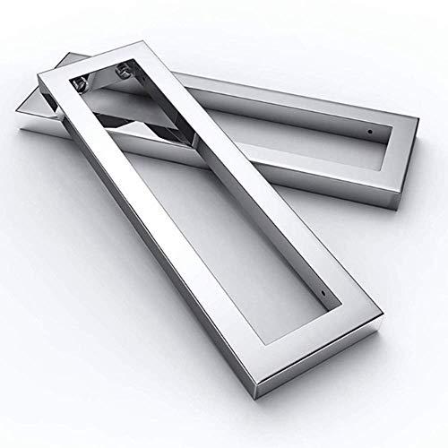 DQAW Par de soportes de pared de metal de acero inoxidable, soporte para estante de pared, 450 mm, para lavabos