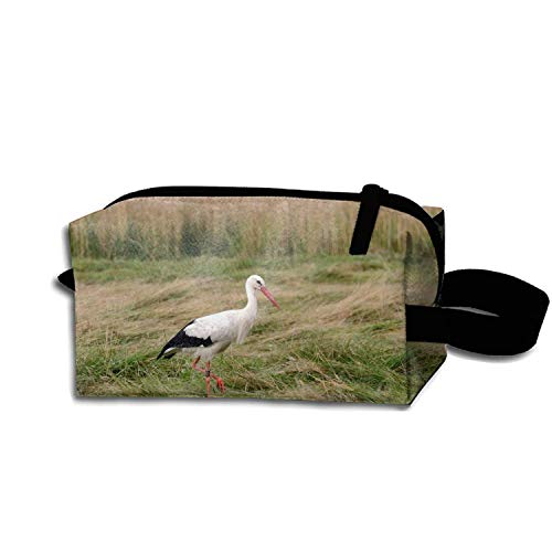 Portable White Stork Cosmetic Bag Large Capacity Lazy Travel Makeup Pouch