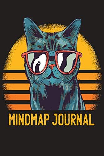 Mindmap Journal: Mindmapping zur Ideensammlung | organisieren, planen, strukturieren und zusammenfassen | Mindmap Vorlagen | visuelles Darstellen | Mietze Katze mit Brille