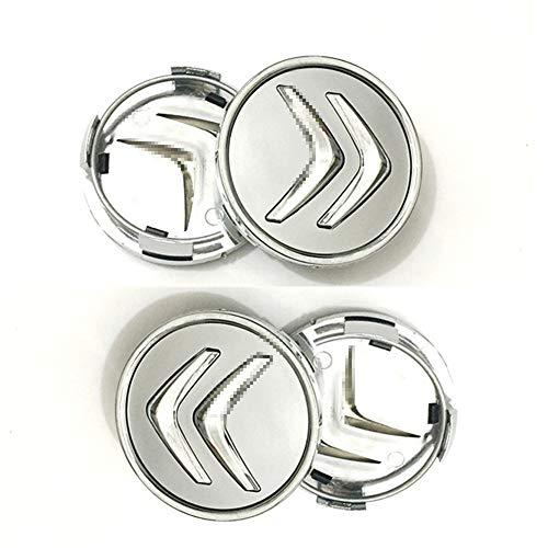 4pcs Juego De Tapas Centrales 60mm Para Citroen Reemplazo Insignia Emblema Cubiertas Decorativas Ruedas Trim Car Styling Accessori
