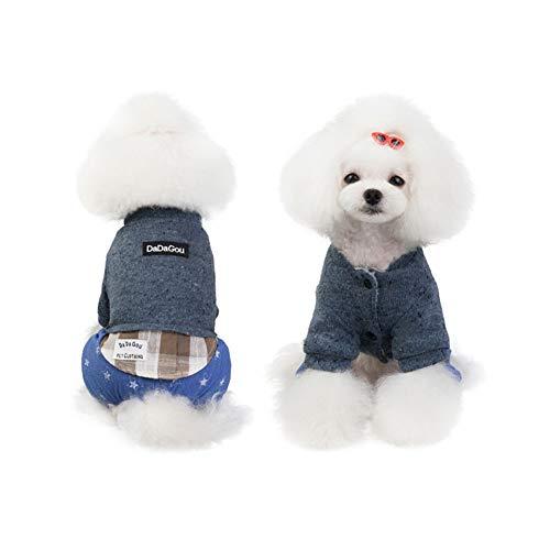 XPC-Huisdieren Kleding Huisdier Kleding Retro Ontwerp Gezellige Winter Hond Huisdier Jas Vest Warm Huisdier Outfit Kleding Plooi Katoen 2 Kleuren