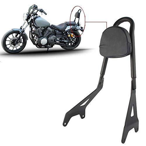 Three T Motorcycle Detachable Rear Passenger Seat Backrest Sissy Bar with Cushion Pad Fit for 2014-2017 Yamaha Bolt XV950/ XVS950 R-Spec, Black