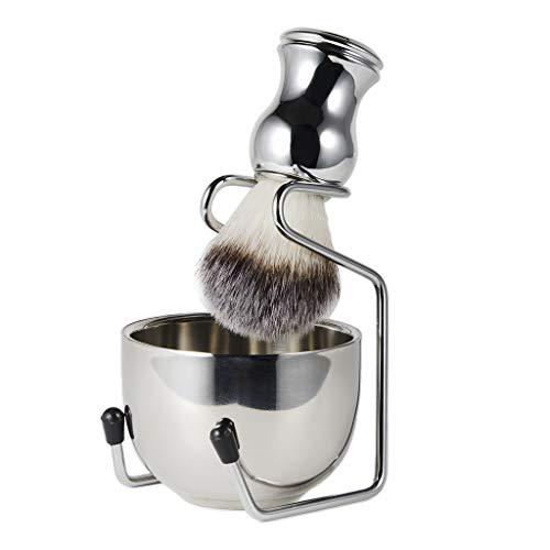 joyMerit Shaving Kit for Men Wet Shave - Shaving Hair Brush, Shaving Stand & Stainless