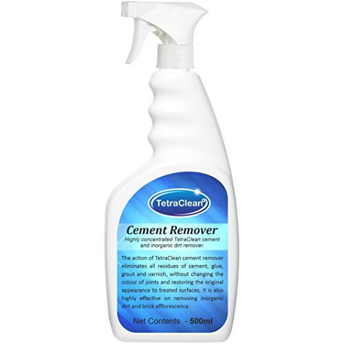 TetraClean Highly Concentrated Cement Remover and Inorganic Dirt Remover/Tile Cleaner (500 ML)