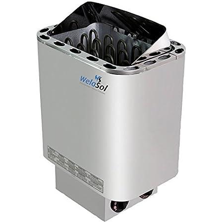Saunaofen Set NORDEX NEXT 9 kW Edelstahl mit Sauna Steuerung L2 CORE Heizung