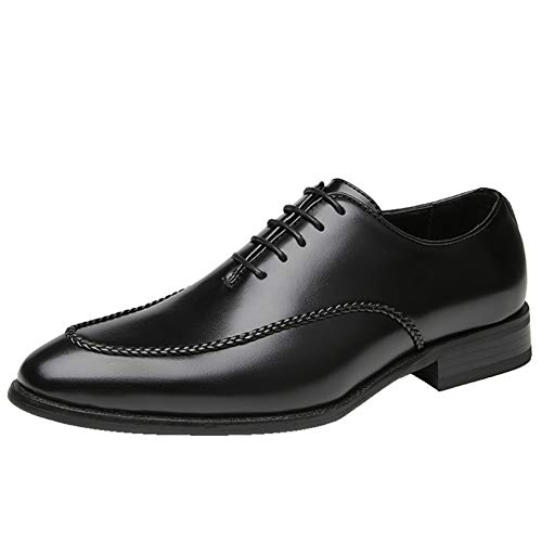 Zapatos Oxford para Hombre Retro Patchwork Zapatos Formales de Corte bajo con Cordones Resistentes al Desgaste Zapatos de Cuero Antideslizantes en Punta para Banquete Gris Cepillado
