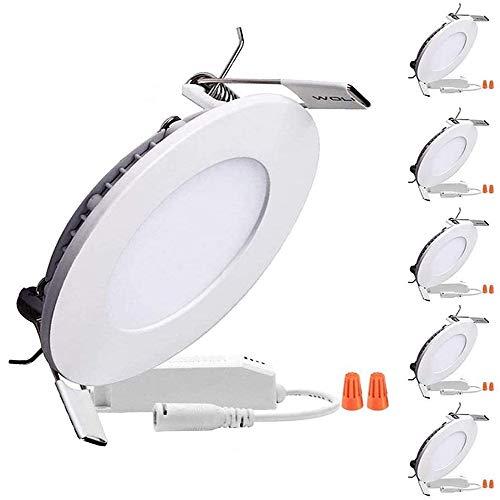 Preisvergleich Produktbild B-right LED Panel 6W Dimmbar LED Panel rund,  Led Panel deckenleuchte,  Led Panel leuchte,  Led Panel Light,  3000K,  Warmweiß,  480 Lumen,  Led Panel Lamp,  Led Einbauleuchten rund.