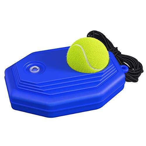 OZUAR Entrenador de Tenis Bolas de Rebote Entrenador de Tenis Bola conectada con Cuerda Equipo Solo para Adultos Niños Principiantes
