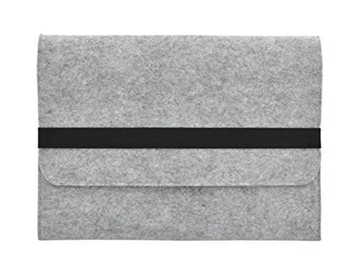 """Filz Schutzhülle Laptoptasche Laptophülle Tasche Filztasche Notebooktasche Laptop Sleeve für 11.6-15.6 Zoll MacBook air 17\"""" Hell Grau"""
