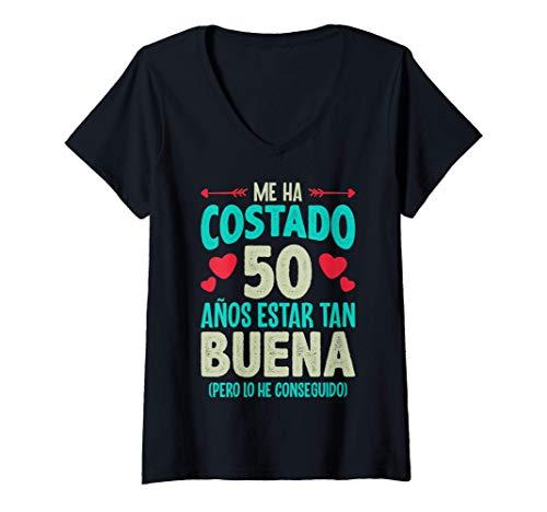 Mujer Me Ha Costado 50 Años Regalo 50 Cumpleaños 1970 Para Ella Camiseta Cuello V