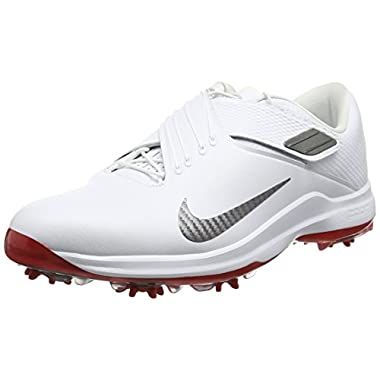 NIKE Men's TW'17 Golf Shoes, White/MTLC Dark Grey-University Red, 10 M US