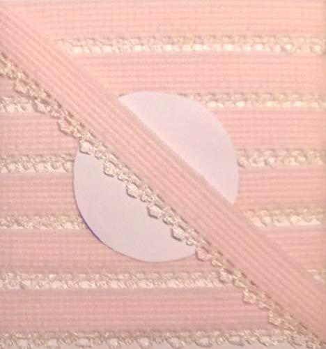 Großhandel für Schneiderbedarf 3 m Wäschespitze elastisch 12 mm rosa 1,66 €/m