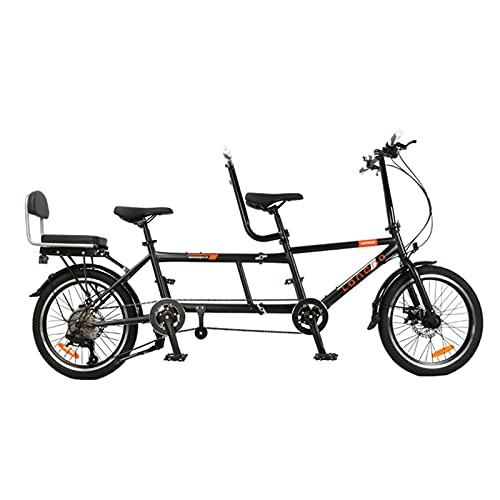 SXSDGZ 20faltrad Klapprad Tandem-Fahrrad Klappbares Fahrrad Camping Bike Campingrad Klappfahrrad 8 Geschwindigkeiten