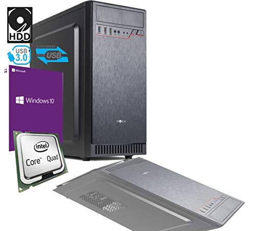 PC DESKTOP INTEL QUAD CORE 2,3 ghz CON LICENZA WINDOWS 10 PRO 64BIT ORIGINALE RAM 4GB HD 500GB MB MICRO ATX CON HDMI DVI VGA USB 500W COMPLETO ASSEMBLATO PRONTO ALL'USO VELOCE COMPLETO PER USO UFFICIO CASA AZIENDA AGENZIA SCOMMESSE INTERNET