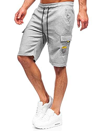 BOLF Hombre Pantalón Corto Pantalón de Chándal Impresión Pantalón de Algodón Estilo Diario Mix 7G7