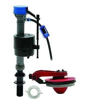 Fluidmaster 400CARP5 Universal No Tank Removal PerforMAX Kit High Performance Toilet Fill Valve and Adjustable Flush Valve Repair Kit Including Flapper For 2-Inch Toilet Flush Valves