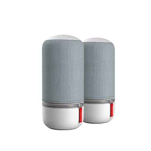 Libratone ZIPP MINI 2 MultiRoom Bundle 2 Stk., kleines Wireless Lautsprecher (Alexa Integration, AirPlay 2, 360 Sound, WLAN, Bluetooth, Spotify Connect, 12 Std. Akku) Frosty Grey