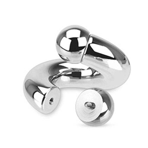 Paula & Fritz® Expander Taper Dehnstab Silber Stahl Twist (Stärke in mm: 3; Lä.