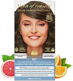 Tints of Nature 6C Dark Ash Blonde Permanent Hair Dye, Single