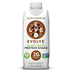 Vegetable based and plant powered protein Evolve: Protein shakes are made with only 9 to 10 essential ingredients, providing 20 grams of protein for sustained energy to help support your active lifestyle Good; Simple; Protein; Evolve: Protein shakes ...