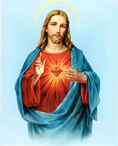 Pintura Diamante 5D Kit,Jesucristo Diamond Painting 40x50cmCristales de estrás, Bordado, Cuadros, Punto de Cruz hogar decoración de la pared