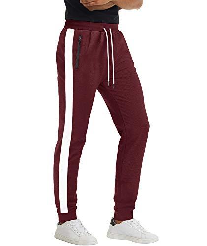 Homme Pantalon avec Poche sur Côté Pantalon Loisir Pantalon De Sport Classic Pantalon De Gym D'Entraînement Randonnée Pantalon Taille ÉLastique