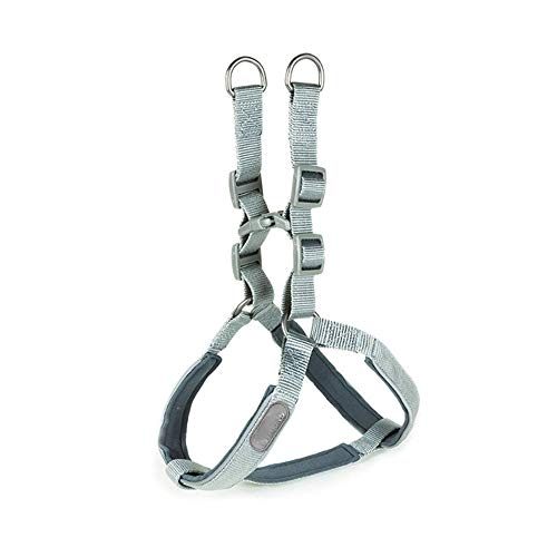 Price comparison product image Pet Harness leashes Outdoor Training harness for dogs Padded Car Safety Vehicle Harnesses Belt (Color : Gray,  Size : S)